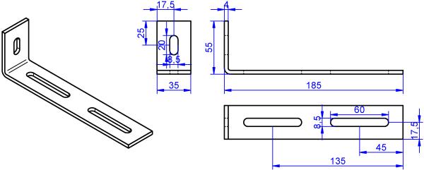 Winkel-4x35-55x185 mm