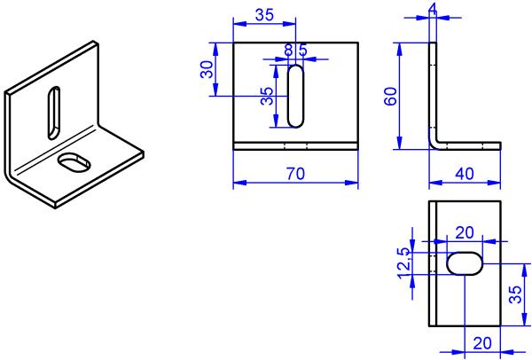 Winkel-4x70-60x40 mm