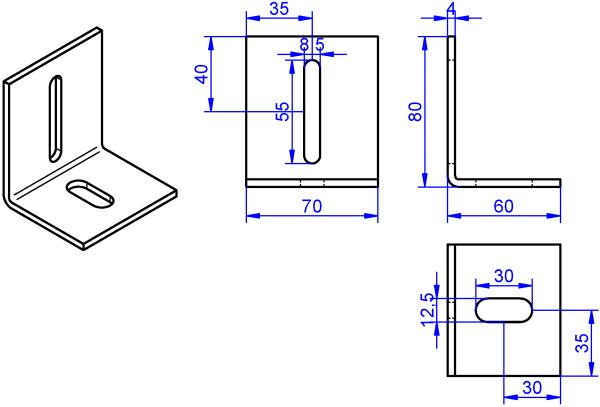 Winkel-4x70-80x60 mm